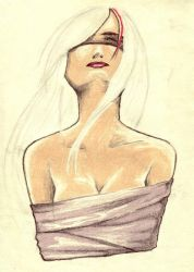 Woman sketch by Place-of-Many-Winds