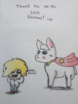 Thank you for 100 llamas! by ColoredButterfly