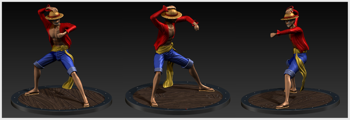 The future pirate King - Luffy by JoshuaSander