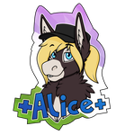 Alice Badge Commission by SnootBooper