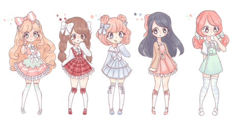 Closed|Auction| chibi point adoptables by ItsCatilda