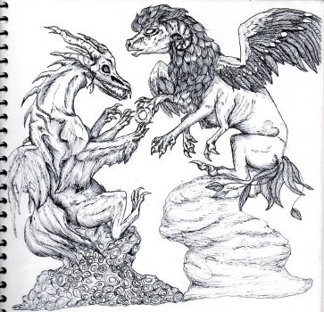 Dragons of Life and Death by Hippie30199