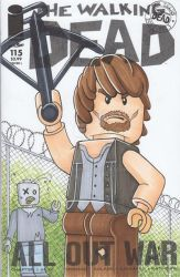 Lego-Daryl-from-Walking-Dead-Sketch-Cover by rodneyfyke