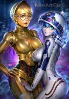 R2D2 and C3PO by NeoArtCorE