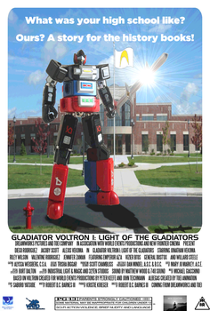 Gladiator Voltron I concept movie poster by PeachLover94