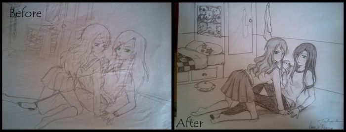 Before and After (Yuri) by toothpick08