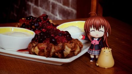 Mixed Berry Waffies With Rin Natsume xD by KyouKeiKen