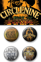 Circle Nine 4 Button Pack by JamesRuthless