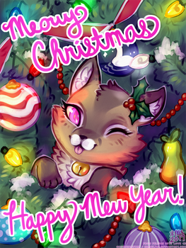 meowy christmas by gerbilfat