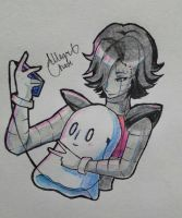 Mettaton and Blooky by allegra-chaos