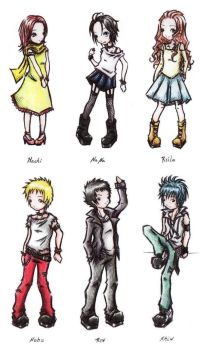 NANA Characters.- by yumi-in-the-sky