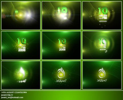 14th August Countdown by junaidcreative