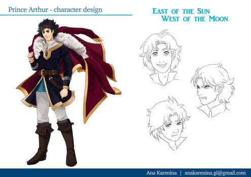 Prince Arthur character sheet-East of the Sun by anakareninart