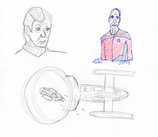 Star Trek Sketch by AdamTSC