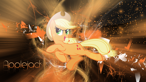 Applejack wallpaper (Black) by ImLaddi