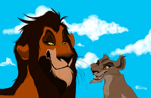 What if- Scar and Zira by Ersalaa