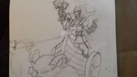The Mighty Thunderer WIP by Top-Hat-Wolf