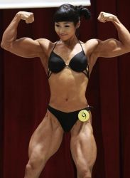 Asian Muscle Girl by PunkRoiber