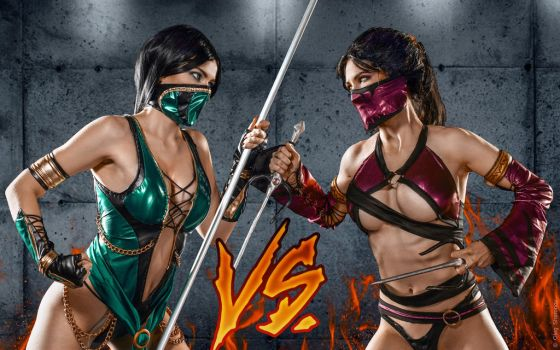 Mileena alternate costumes Mortal Kombat 9 by AsherWarr