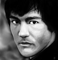 Be water my friend - Bruce Lee portrait by Matou31