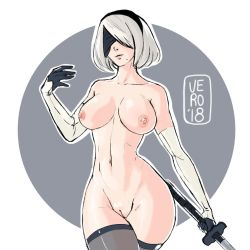 2B - Nier Automata - Nudies #5 by TheArtOfVero
