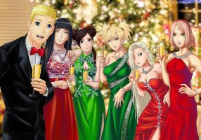 Commission: Naruto - Holiday time by Amenoosa