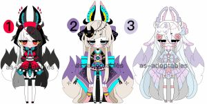 kitsune adoptable batch open 1/3 by AS-Adoptables