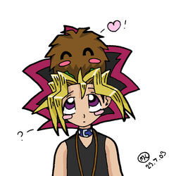 Theres a Kuriboh on my head by mellie-chan