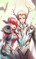 Royalty of the Woods - Oberon n Titania [Warframe] by DarikaArt