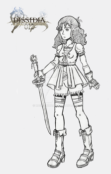 FF Dissidia 012 OC: Judit Lineart by Rose-anime