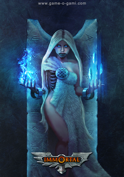 Immortal - Hel - card game illustration by gameogami