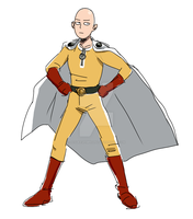 Badly Drawn Saitama by Josukespimphand