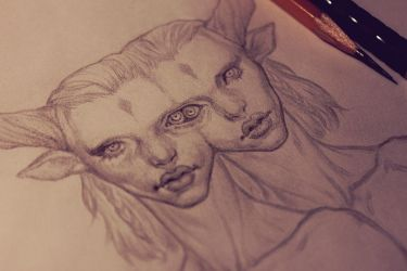 Siamese twins (WIP) by Maria-Anatolievna