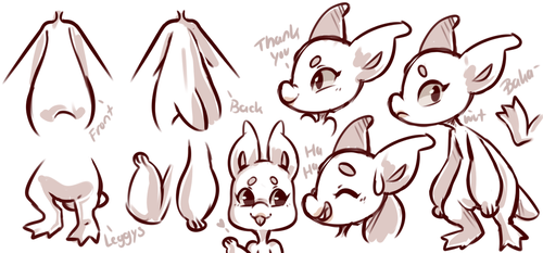 Tox reference sketch sheet [ kryptox ] by candlewiick
