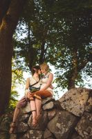Zelda Twilight Princess - Link and Ilia kiss by UltraCosplay