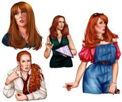 Catherine Tate Sketches by AnnettaSassi