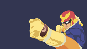 Captain Falcon vectored wallpaper by Browniehooves