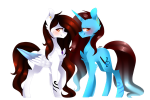 MLPSpeedPaint - Dess and Lau by HuiRou