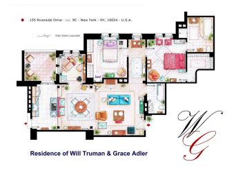 Apartment of Will Truman and Grace Adler by nikneuk