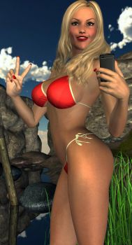 Christina's GTA V style bikini pose picture by Wonder-Christina