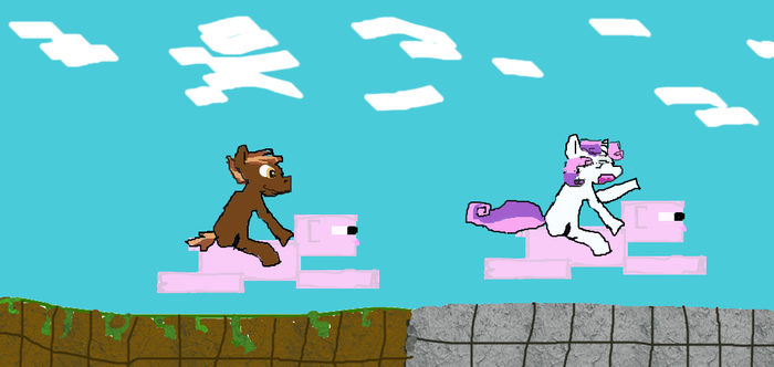 Minecraft pig ride by paulinaghost