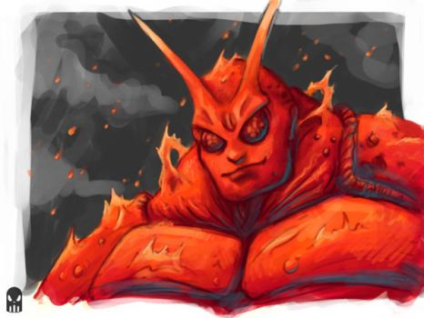 Fire Lobster Sketch by MAROK-ART