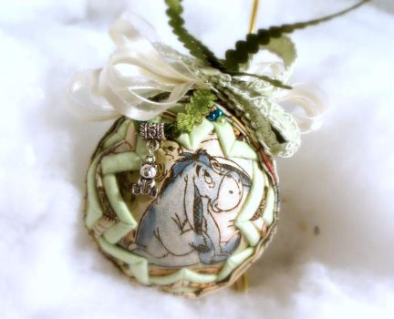 Eeyore handmade quilted ornament 2 by Chrissie1370