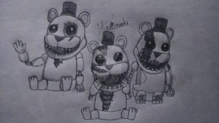 Three Mini Freddys by Magicnooki