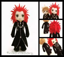 KH2 - Axel Plushie by momoiro-machiko