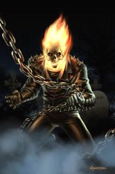 Ghostrider by Mark Winters by GoldenGoatStudios