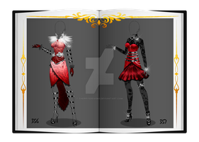(closed) Auction Adopt - Outfit 356+357 by CherrysDesigns