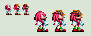 Sonic Mania - OVA Knuckles / Cowboy Hat Knuckles by rcrdcat