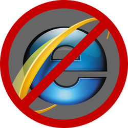 Forbidden to IE ! by BlAg001