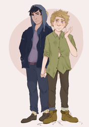 Craig and that guy by Drawing-Soul